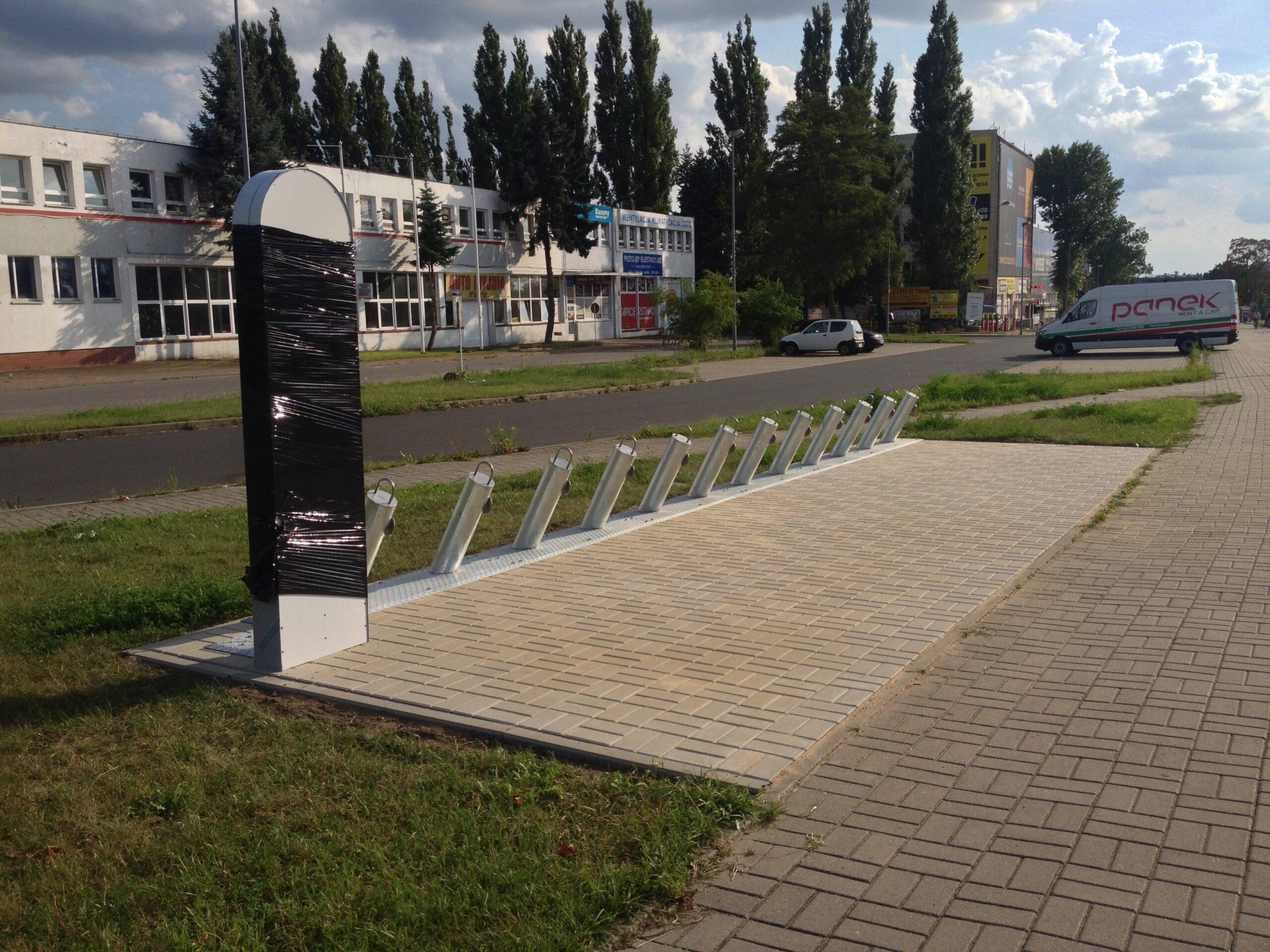 Pierwsza stacja roweru miejskiego na Pomorzanach